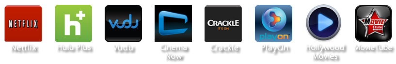 netflix  hulu plus vudu cinema now crackle play on hollywood movies movie tube
